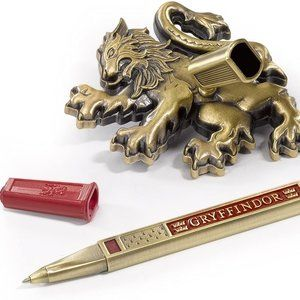Noble Collection Office - Gryffindor House Pen and Desk Stand NWT
